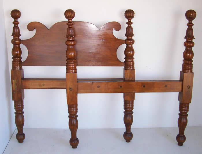 Carved post cannonball twin bed