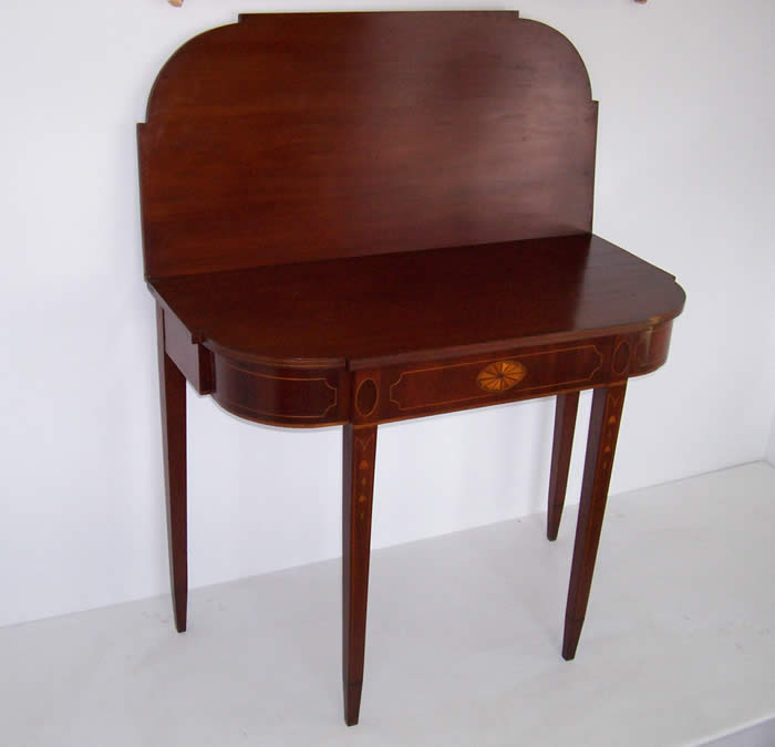 Federal Mahogany Inlaid. Card Table ...