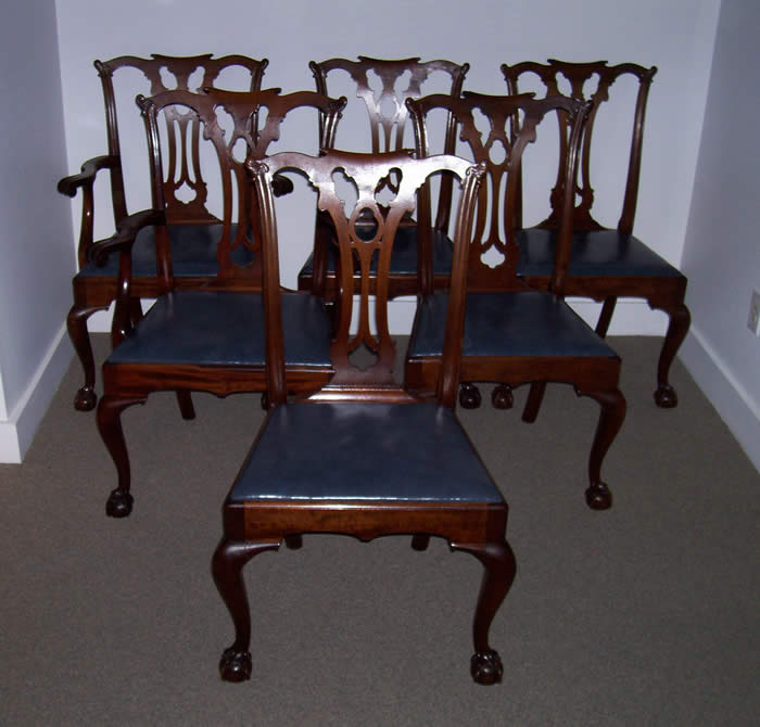 Set Of  Formal Dining Room Chairs And Hepplewhite Sheild