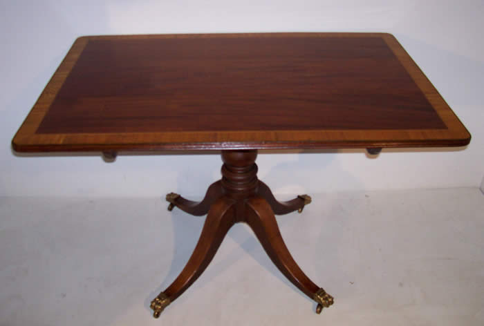 Mahogany 1 Pedestal Base Table - Tables Formal American And High Style Country Furniture And